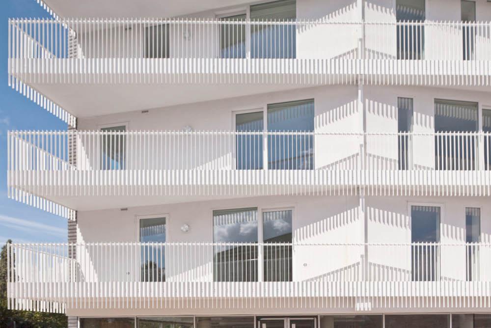 Balcony Detail of Social Housing Development for Igloo Regeneration and Hexagon Housing Association