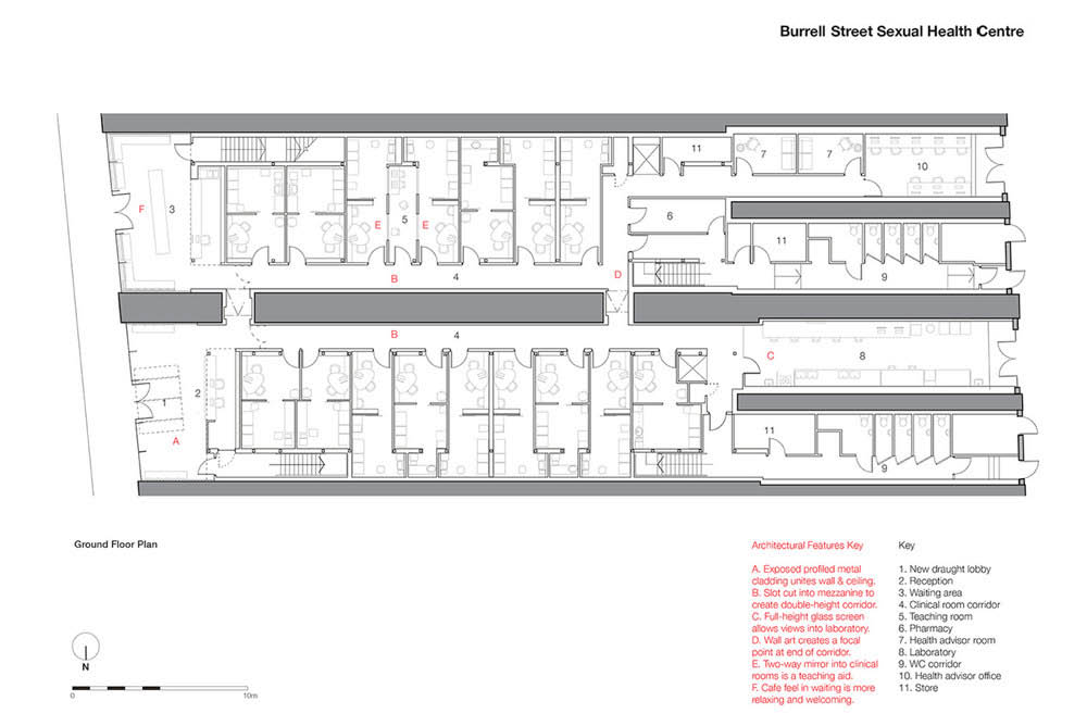 NHS Clinic Floor Plan by Mowat and Company Architects