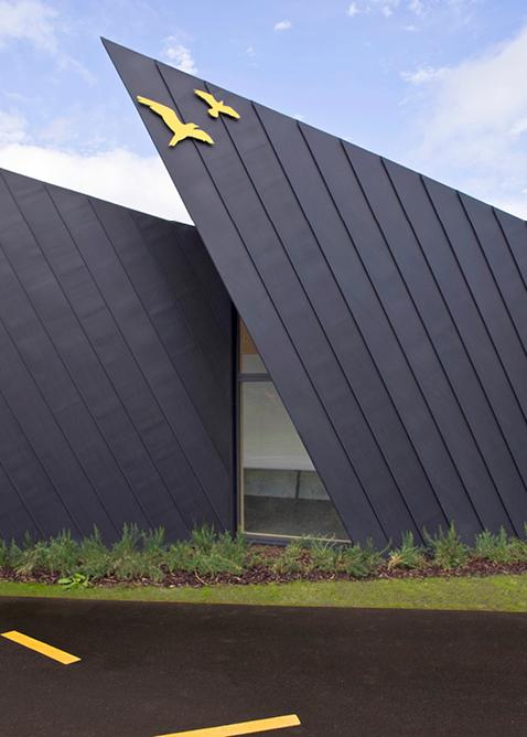 Zinc Clad Falmouth School New Extension