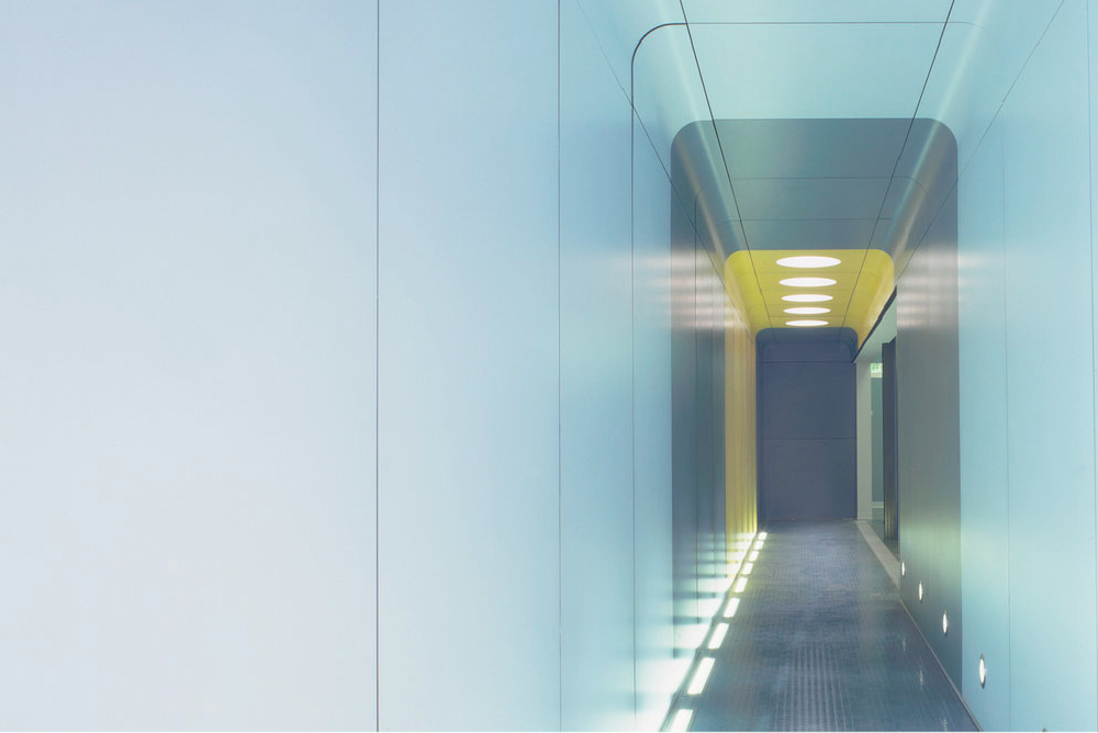 Photograph of Corridor in Temporary Offices for 3i Group in London