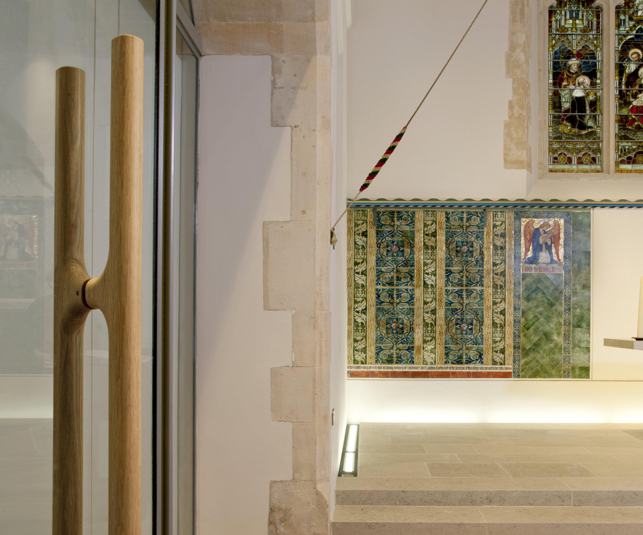 Mowat and Company Share Wooden Door Handles at Winton Chapel