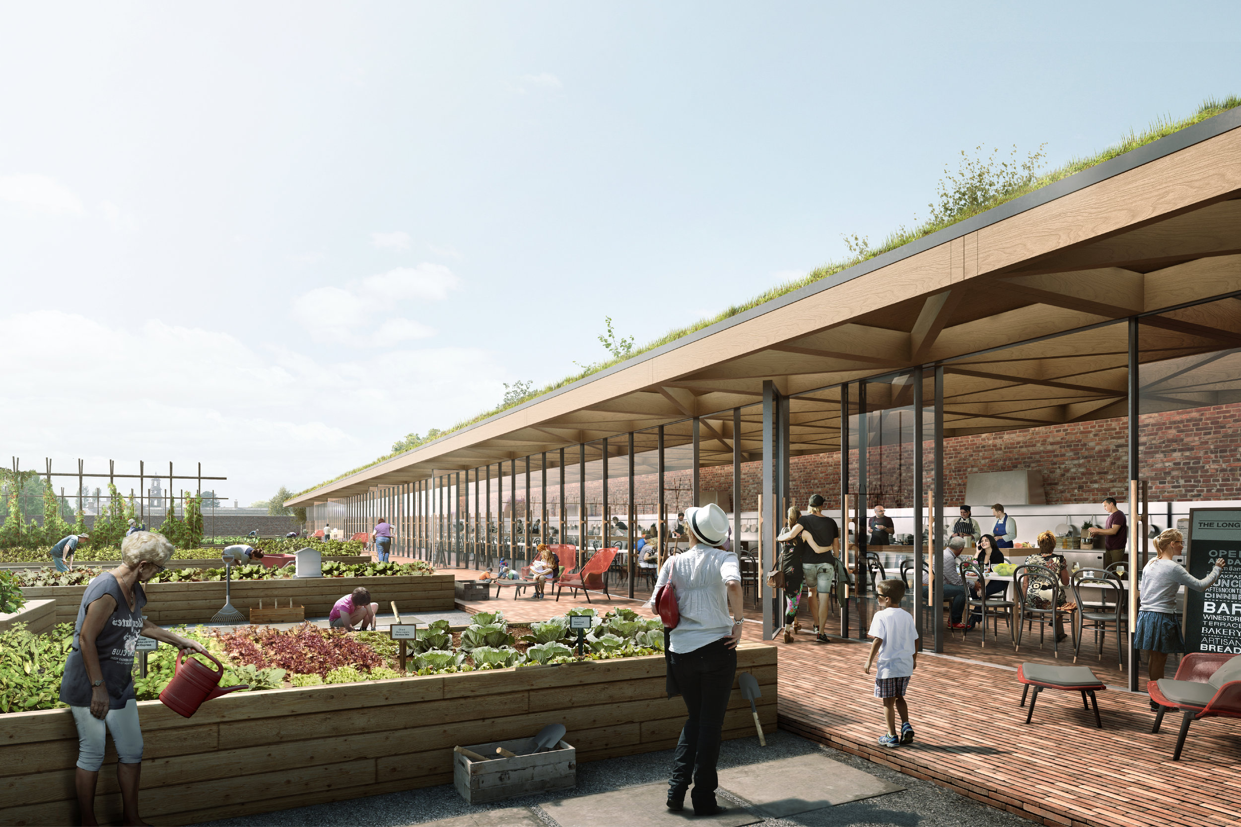 Proposal to create a cooking & gardening school within an abandoned walled garden