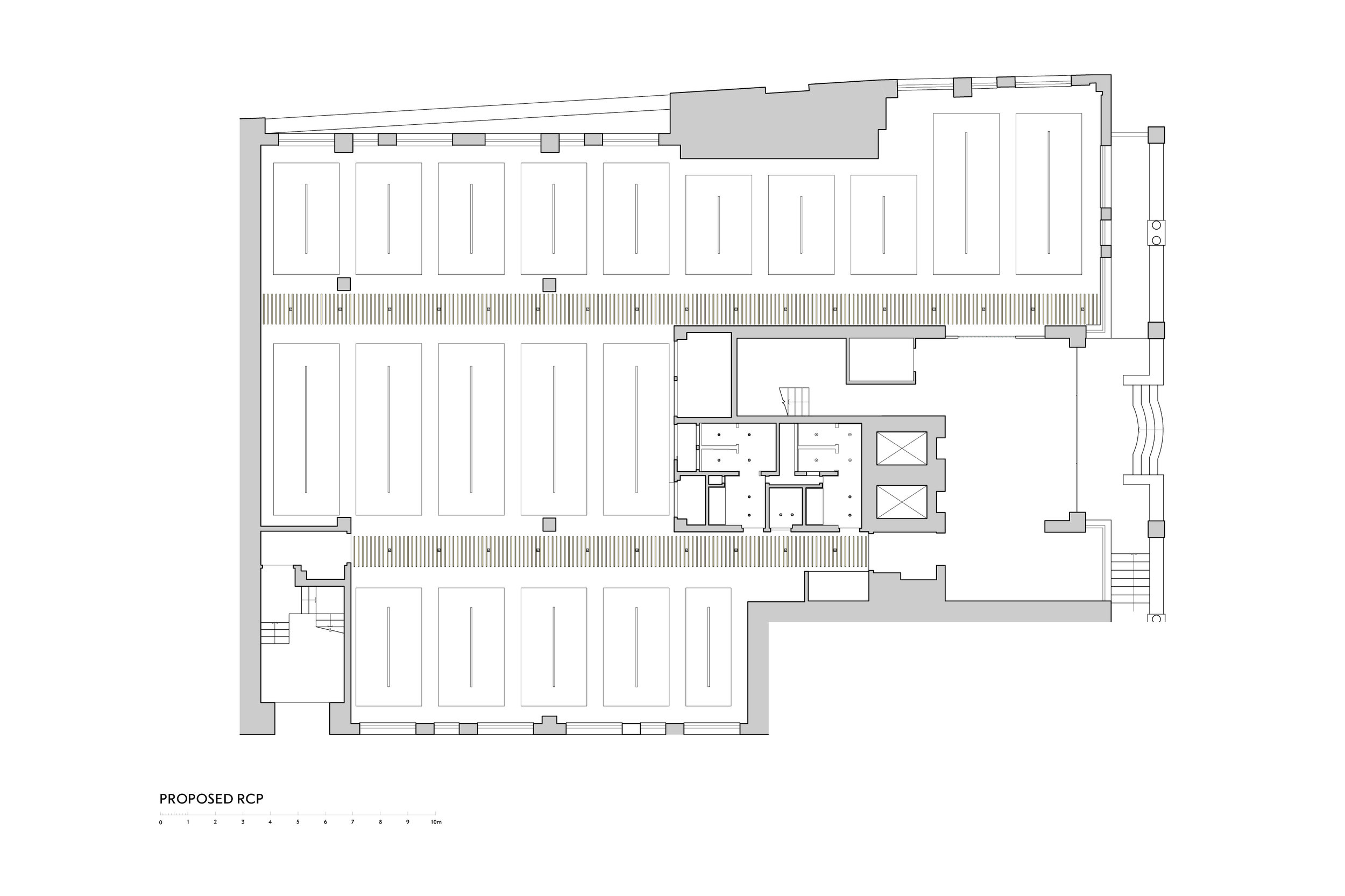 Reflected Ceiling Plan of Commercial Office Fit Out