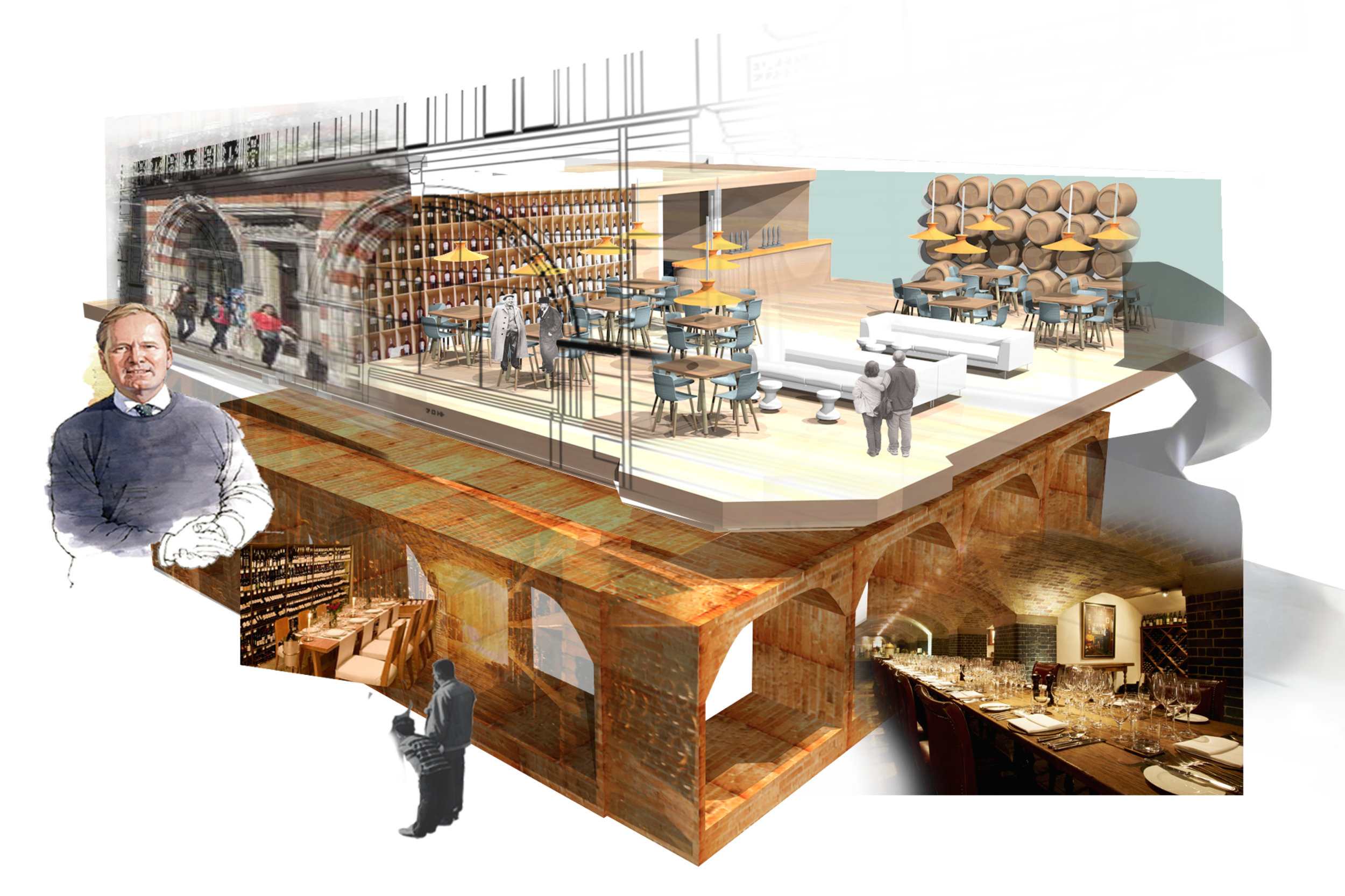 Visual of Berry Bros. and Rudd Cellar Concept
