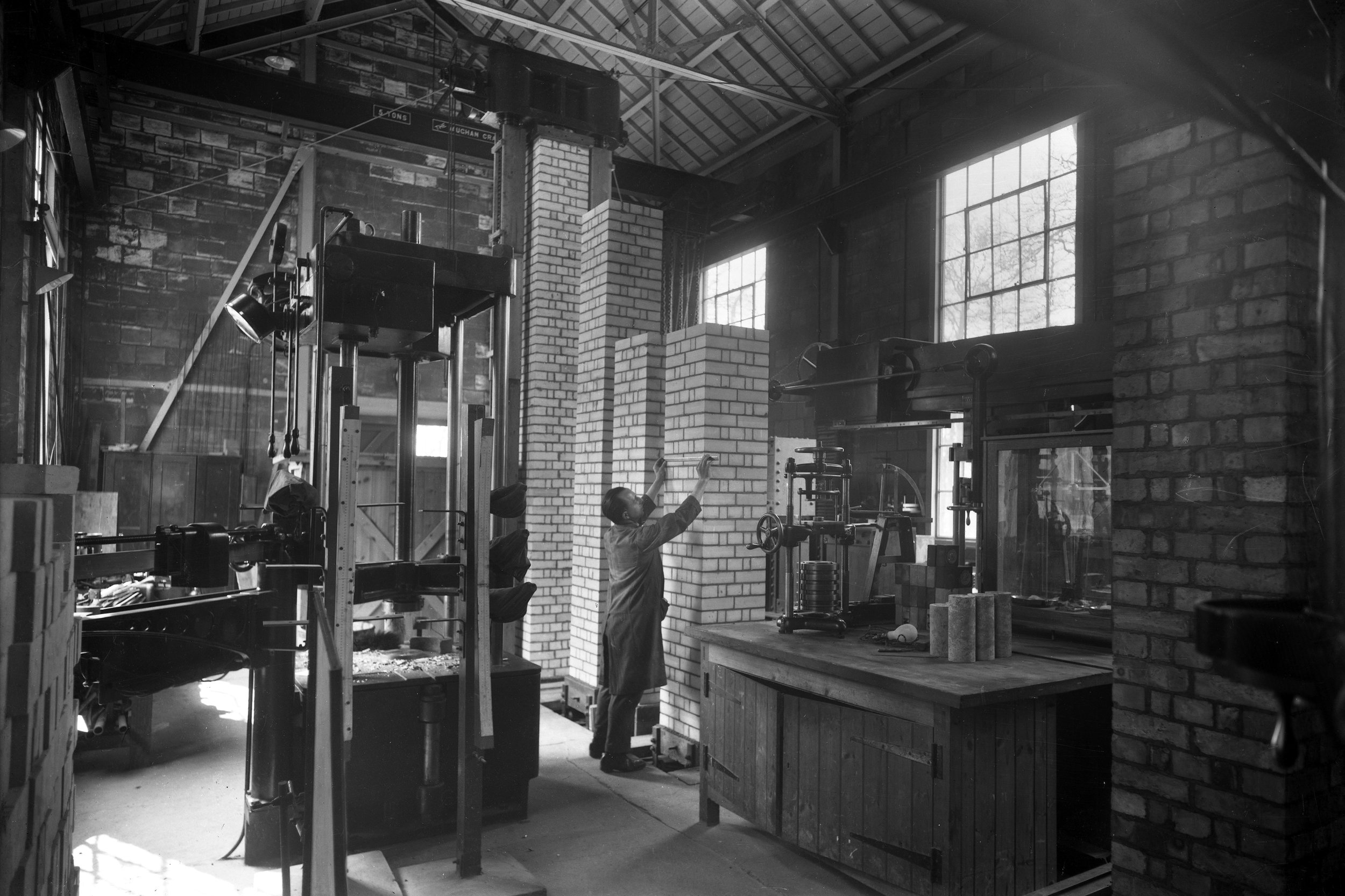 Old Photos of Construction Methods Research by the BRE