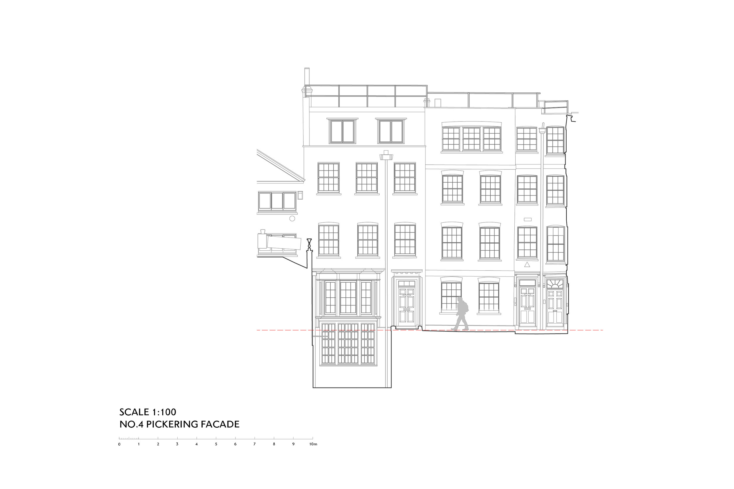 Elevation of Pickering Place in St James's London