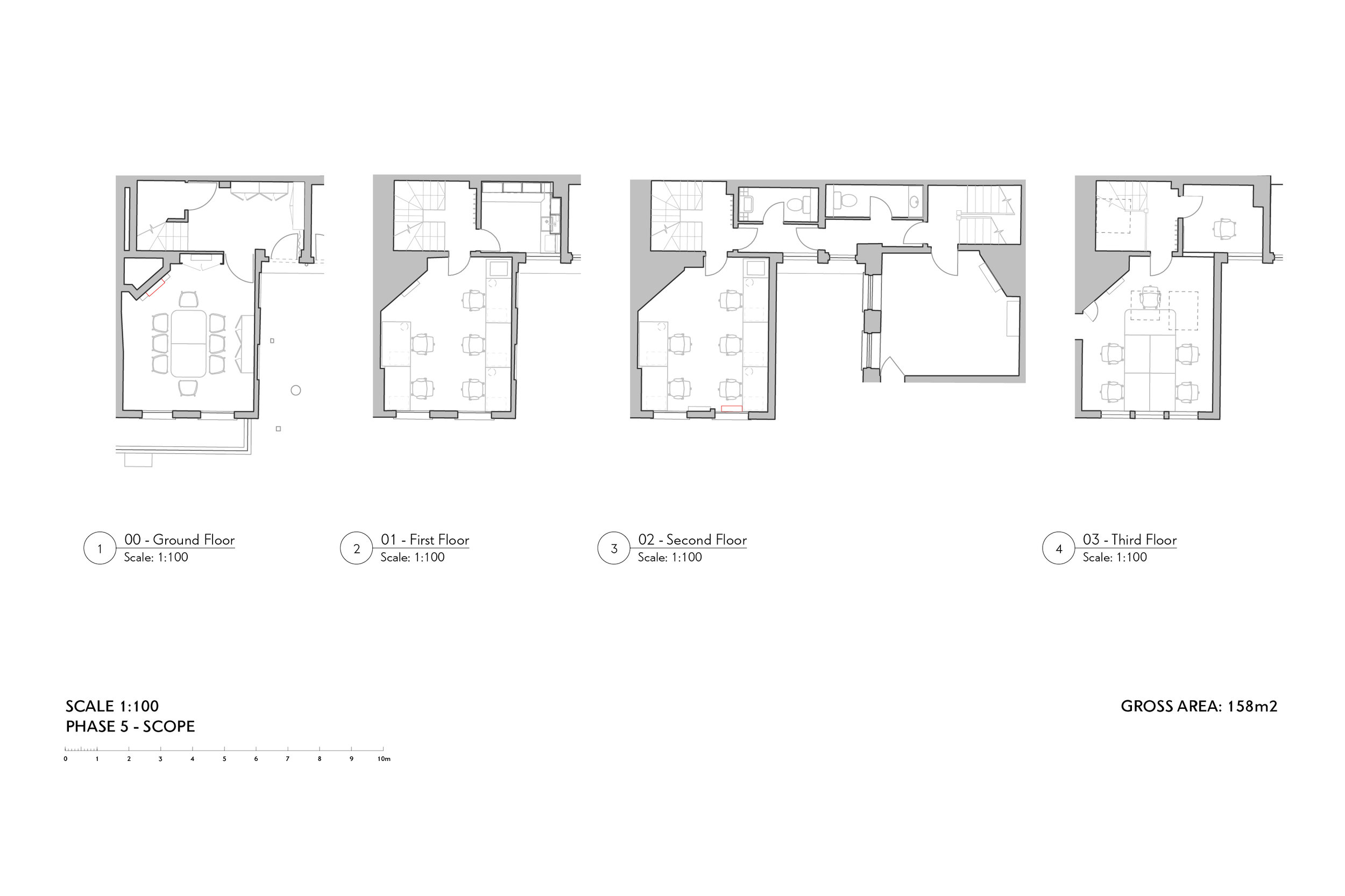 Floor Plan of Interior Fit Out Design at BB&R