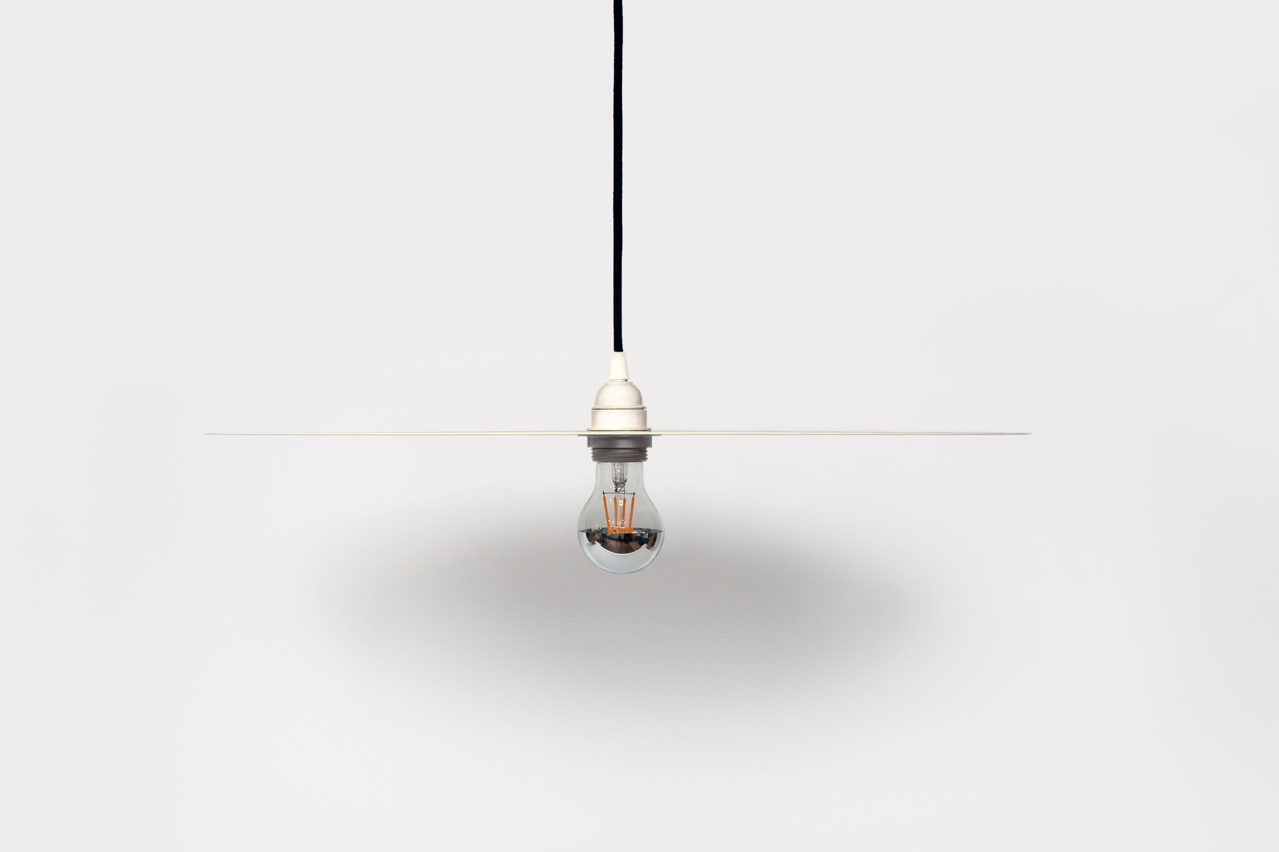 Light Pendant White with Crown Silver