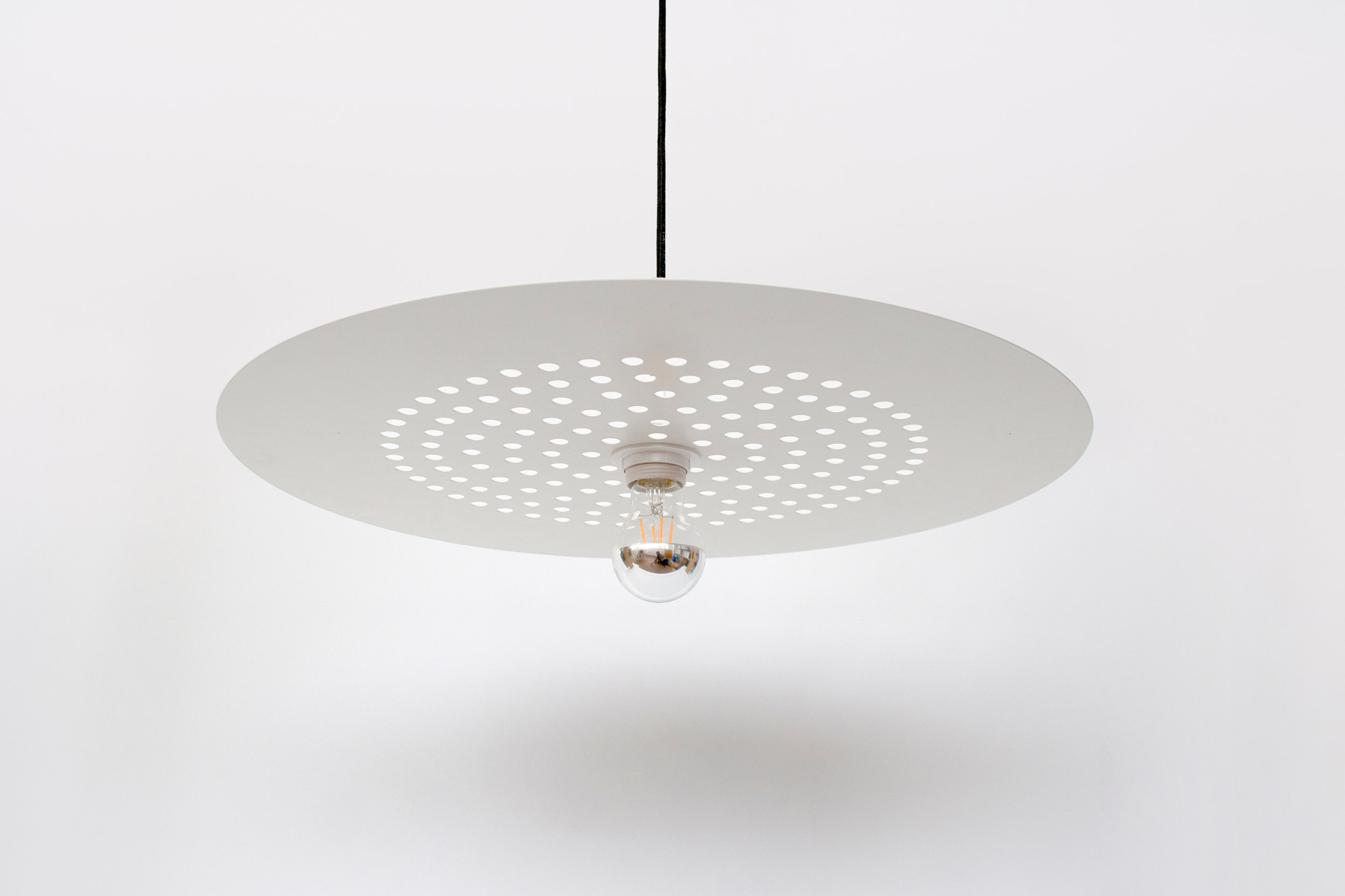 Light Pendant Superlight Punched Metal White