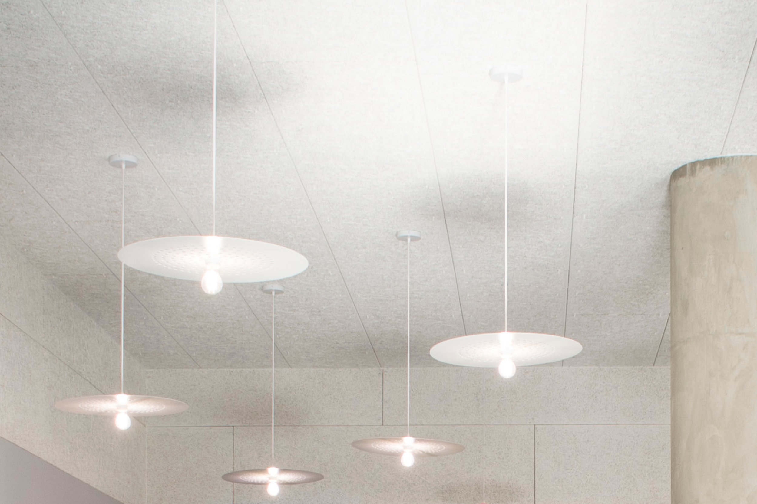 Superlight Pendants Installed at NB Studio in London
