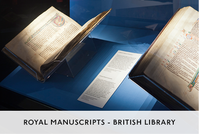 Royal Manuscripts Exhibition at the British Library Designed by M&C