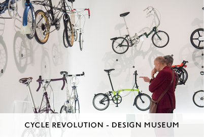Cycle Revolution Exhibition Design at the Design Museum by M&C