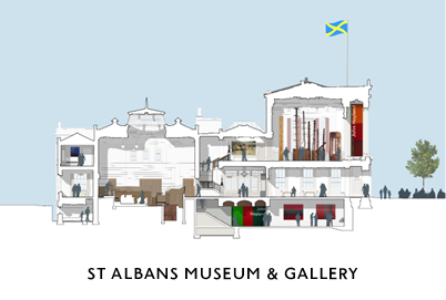 Exhibition Design for St Albans Museum and Gallery by Mowat and Co