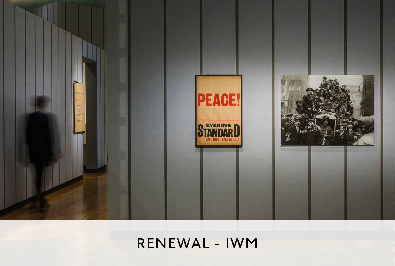 Photography Exhibition at IWM Designed by Mowat & Co