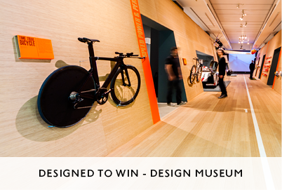 Designed to Win Exhibition at the Design Museum by M&C Architects