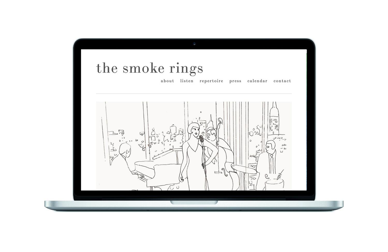 THE SMOKE RINGS Brand, Illustration, Website