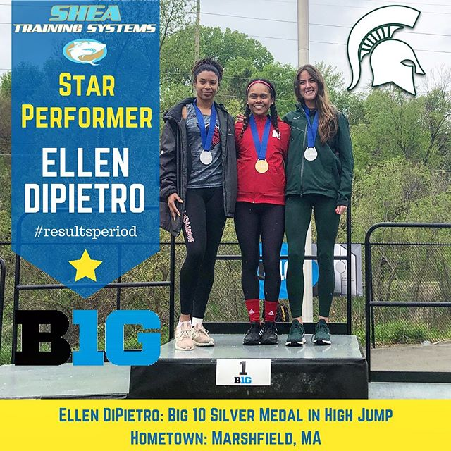 "Big ups...pun intended, to Ellen DiPietro of Michigan State for her silver medal at the Big10 Championship. Ellen jumped 5'8"" and when I congratulated her, she had mixed feelings. She was happy to do so well in one of the most competitive D1 track conferences in the nation. At the same time, she knows she's also capable of going even higher. She'll have a chance to do so at this week at Regionals, aka NCAA East Preliminary Round in Jacksonville. It's her 4th time competing here and she and 24 other Spartans will be competing to go to Nationals. Good luck Ellen!! Hope you can swing a Top 12 finish to move on to Nationals in June Austin, TX!! #spartans #track&field #highjump #big10 @ellendipietro @msutfxc @msu_athletics @big10conference"