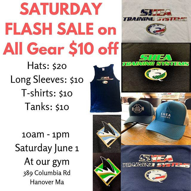 We need to unload our old gear and we want to offer our NEW hats at a sale price. From 10-1 tomorrow we'll be posted up at the desk for anyone who wants to come in and grab any of our gear at discounted price. Size and styles vary, but we have tank tops, long sleeve tees, t-shirts, hats, in all the styles we've released over the last 2 years.