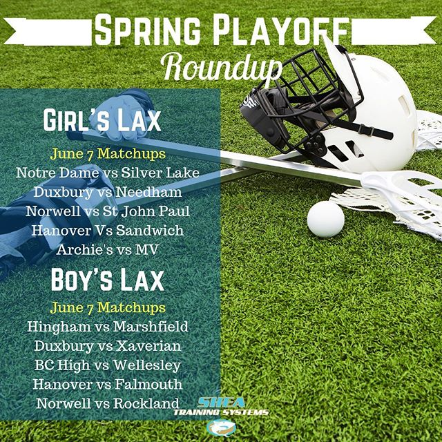 A lot of HUGE matchups on the South Shore tonight. Very excited to see who comes out on top here. A lot of talented teams with some rivalries heating up with all of the top-notch club players spilling into the ranks of each squad here. Good luck to the 50 or so athletes that trained with us to prep for the playoffs. #lacrosse #gamenight #trainsmarter #resultsperiod