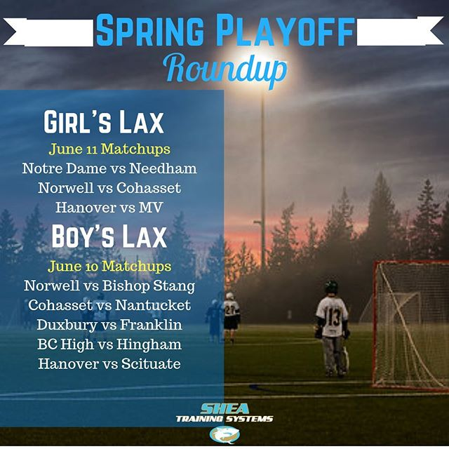 Good luck to all the athletes in the playoffs, this is why you trained hard all winter. Got some killer matchups, both D1 boys games are at Hingham HS tonight, and Norwell and Hanover tomorrow, if you want to post up at 5pm and 7pm and take in some killer Lax right in our back yard! Go support these talented athletes and get some solid entertainment for a couple bucks. #southshore #lacrosse #playoffs #hardworkpaysoff #trainsmarter