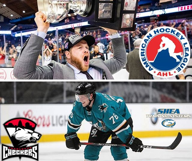 Congrats to a former and current Shea Training athletes Ryan Warsofsky and Cavan Fitzgerald for signing with the Calder Cup winning @checkershockey of the AHL!! Ryan has just been promoted by the Checkers to become the youngest head coach in @theahl sine 2000. He's a former player at Sacred Heart and Curry before playing pro in Europe. He and his brother @dwarsofsky55 of the @penguins were training with us a decade ago, and they are both still charging hard in the game. Ryan was previously the assistant head coach in Charlotte and was in charge of the defensive corps and the penalty-kill, which was 2nd best in the AHL during the regular season under his leadership, a key piece to their championship campaign last year. ------ @cavanfitzgerald played his last two seasons in the San Jose Sharks system, and now heads back east to play D for Coach Warsofsky and the Checkers, who are the affiliate of the Carolina Hurricanes. Cavan's been training his tail off each summer as he has come home to Massachusetts. Love having him and @cullanfitz in the gym every week, I'm looking forward to seeing the Checkers play this winter! #resultsperiod #trainsmarter #hockey #caldercup