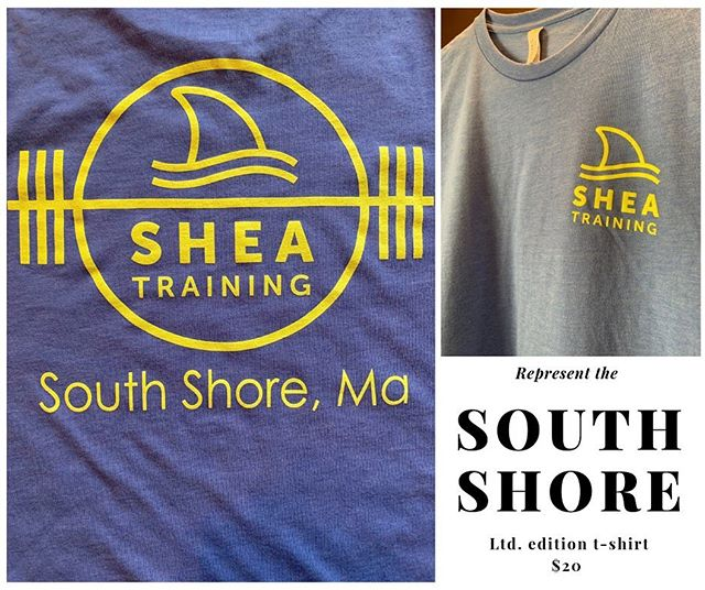 Think about it. Who reps the South Shore? @islandcreekoysters holds Duxbury down, @mytucklife hails from Nantucket, @vineyardvines from MV. Since we've been training South Shore athletes for 17 years, we felt it was time to show some pride in the towns, beaches, and CULTURE that we are so proud of. It's the best place in the world to grow up and located within heaven on Earth is Shea Training. Proud to be the the South Shore's best place to train whether you are a competitive athlete or active adult. Now we are gonna start making some noise and letting (in a fashionable, classy way) let the masses know who we are and where we are from!! ——— These are a super comfy ring spun cotton material, you'll love the way it looks. Rep where you're from!!! #southshore #massachusetts #trainsmarter #lookgood