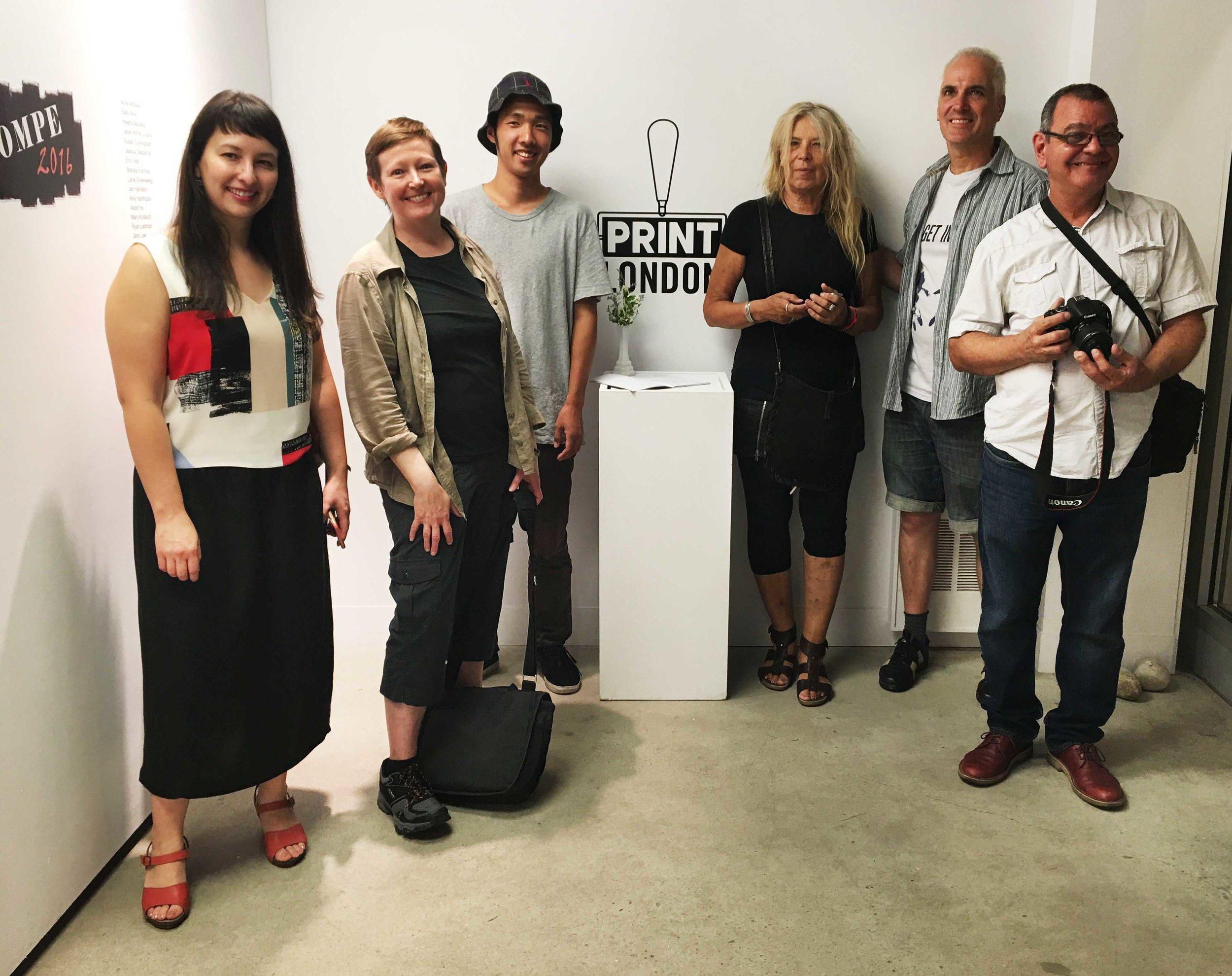 Friends from Open Studio in Toronto (Left to Right): Amy Uyeda,Loree Ovens,Shogo Okada,Irina Schestakowich,  Kurt Pammer,  Agustin Rolando Rojas