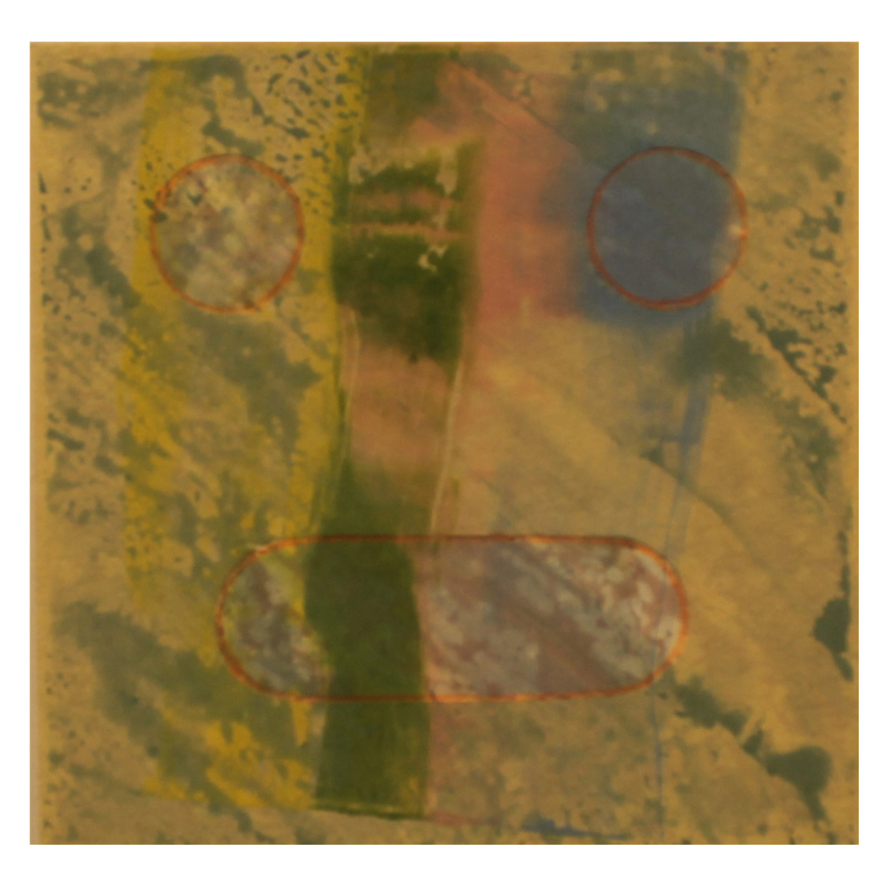 Eric Mummery, Face Ghost vi, 2016, monotype, chine colle