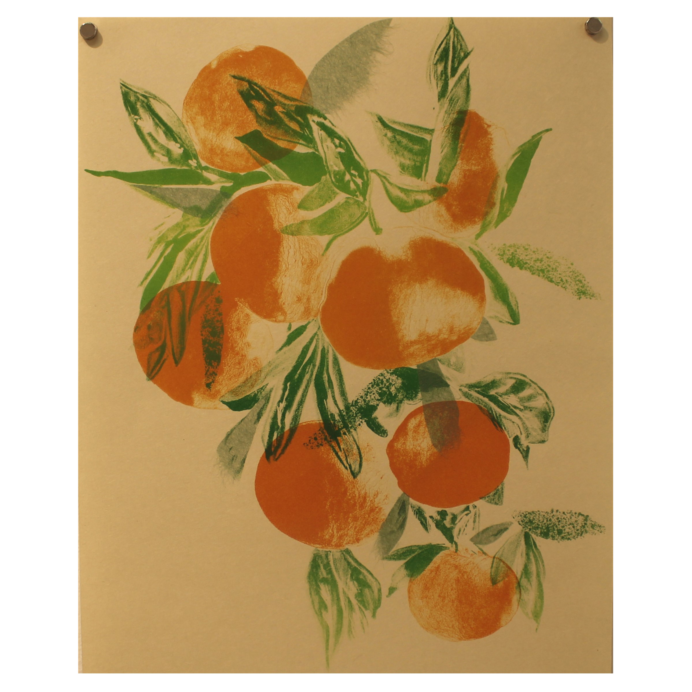 Amy Uyeda, More Mikans, 2016, lithograph