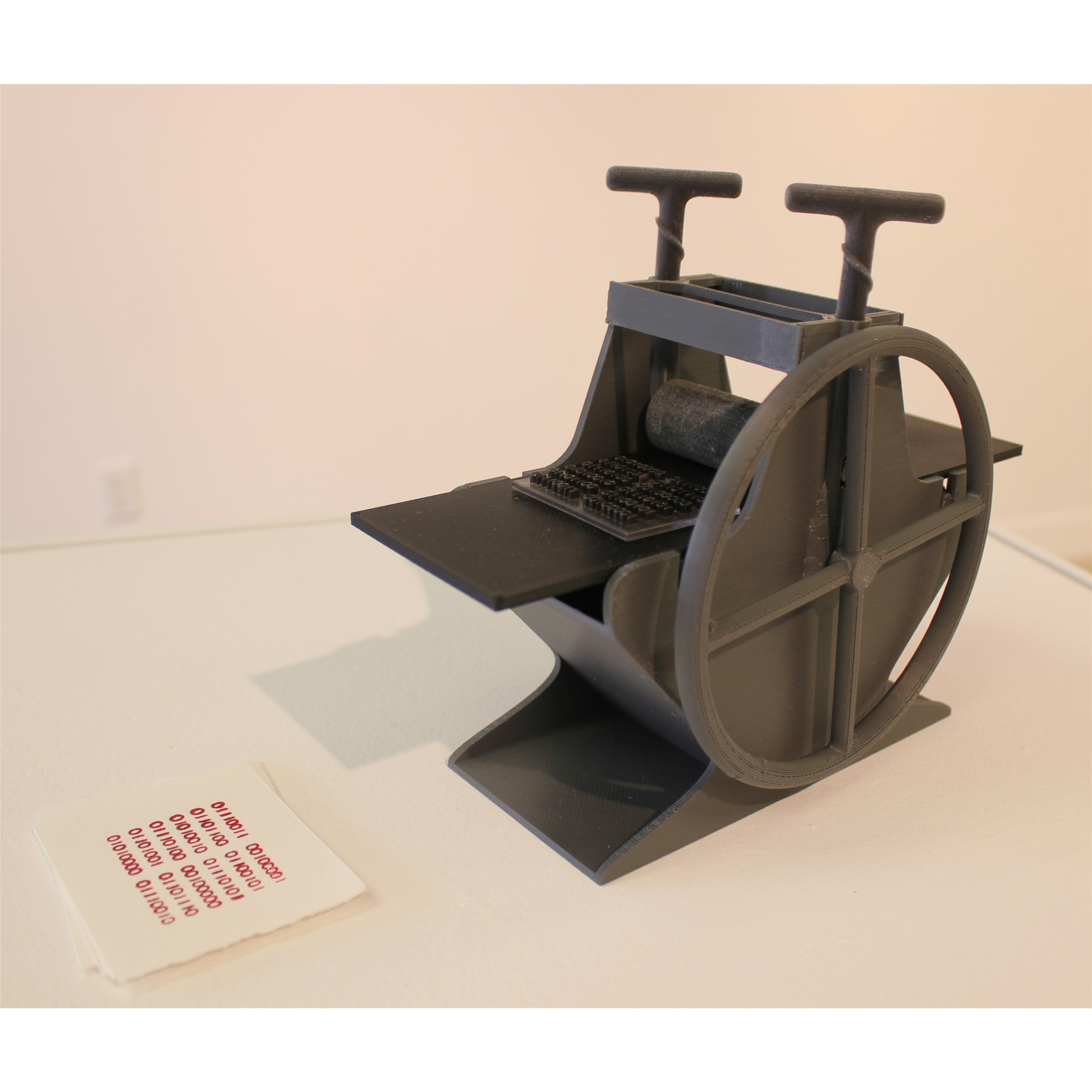 Jen Law, Re-inventing the Wheel, 2014, 3D printed printing press