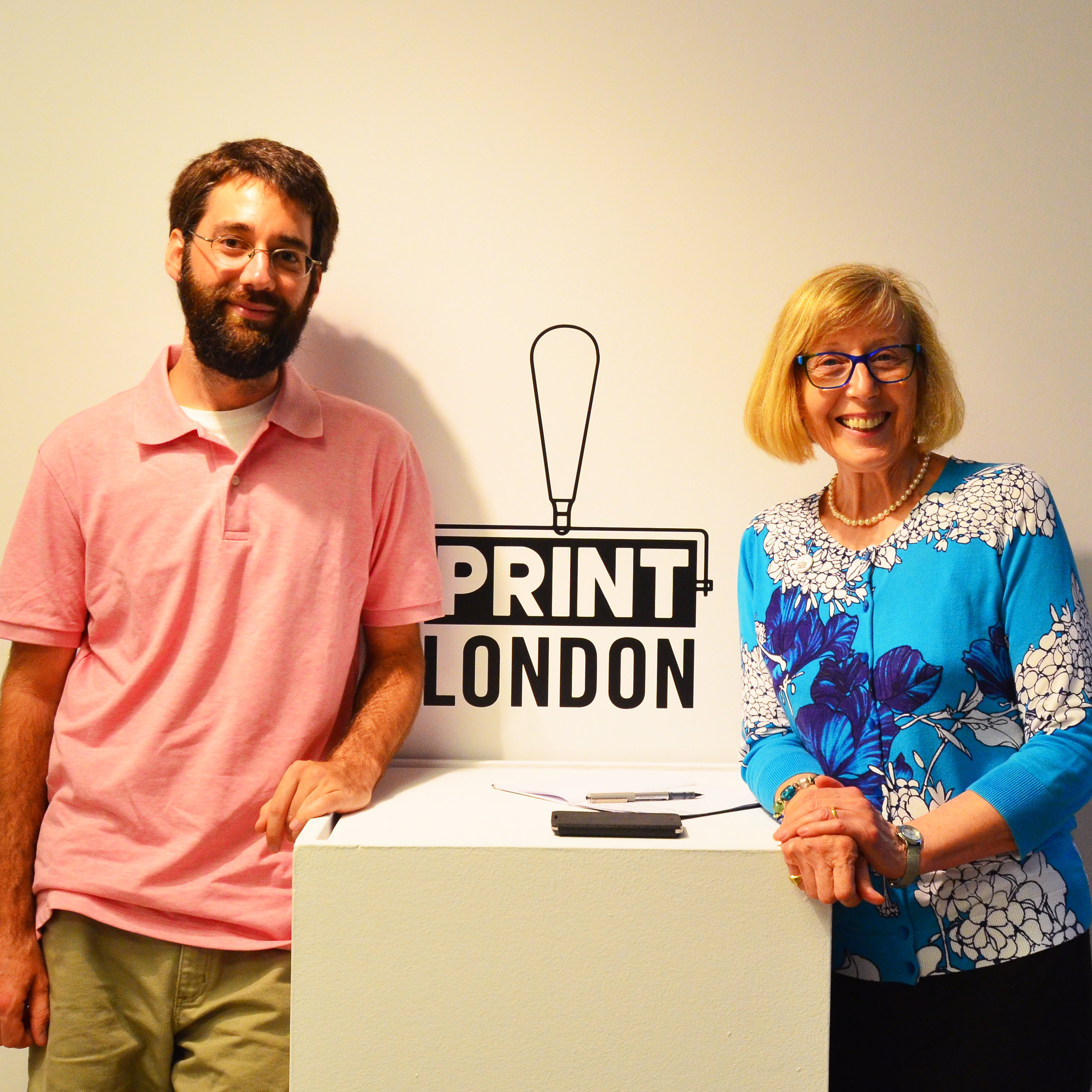 First Prize Winner: Eric Mummery with Second Prize Winner: Ann Unger