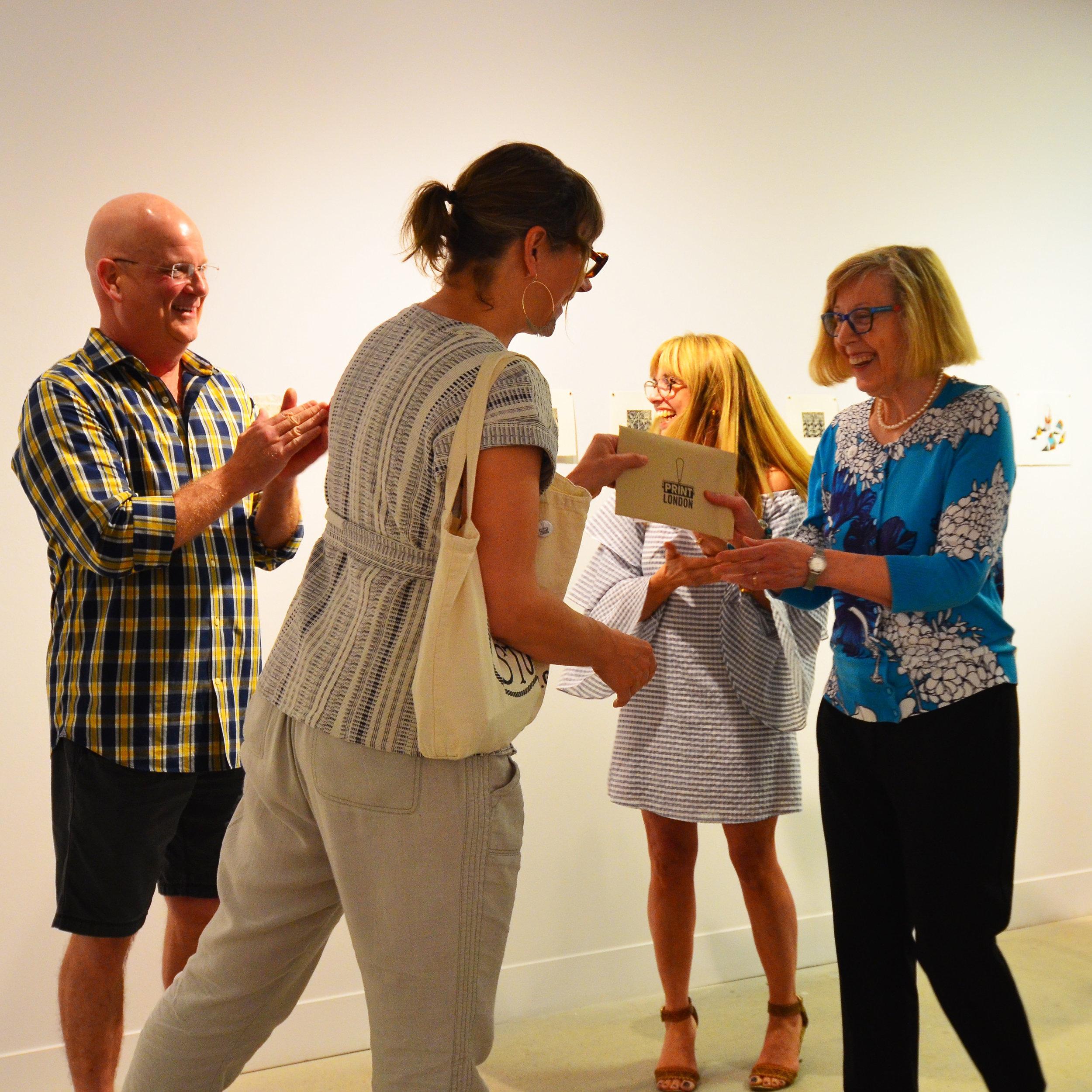 Second Prize Winner: Ann Unger (Right)