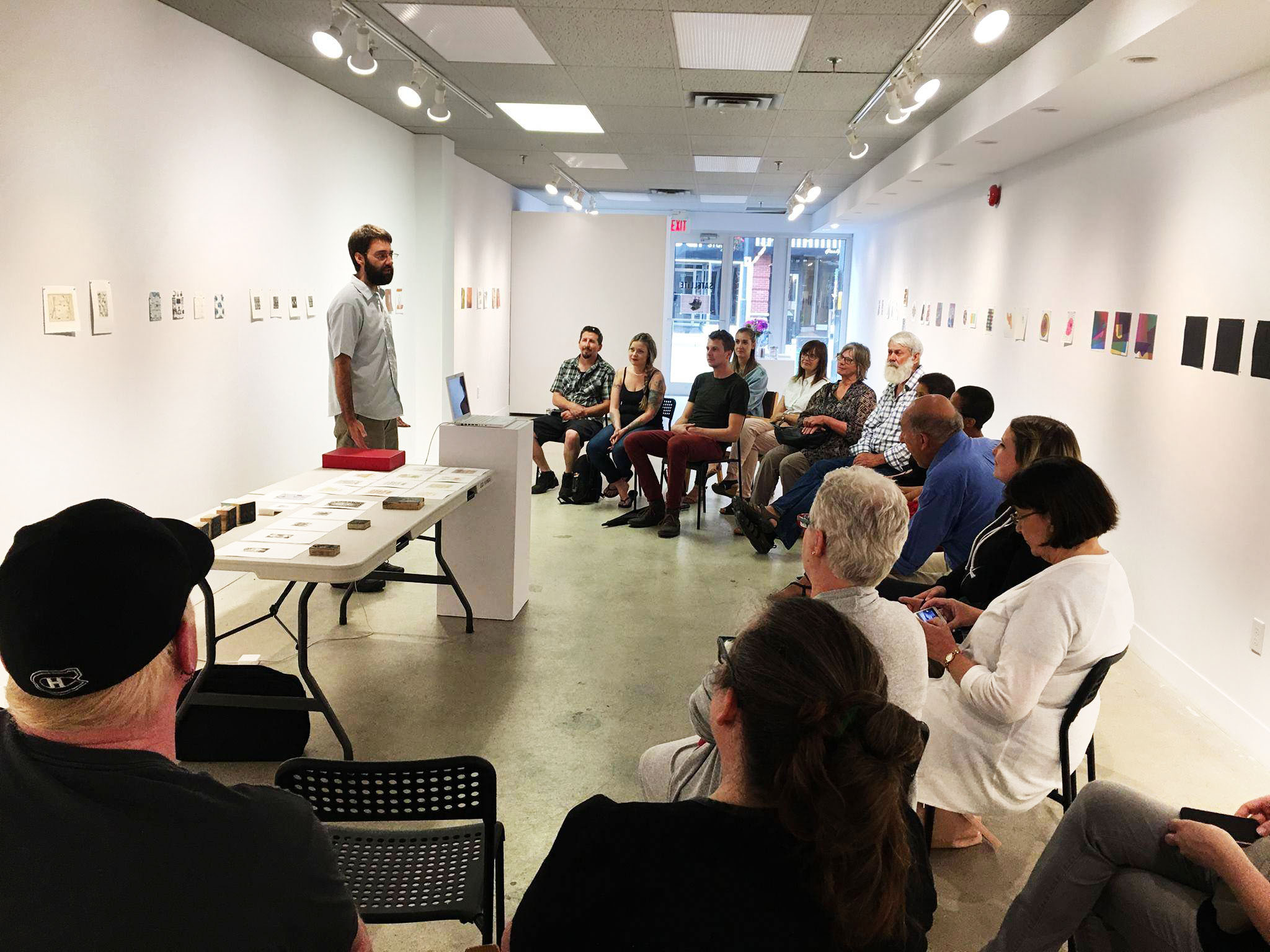Eric Mummery artist talk at Satellite Project Space - Thursday June 29th 2017