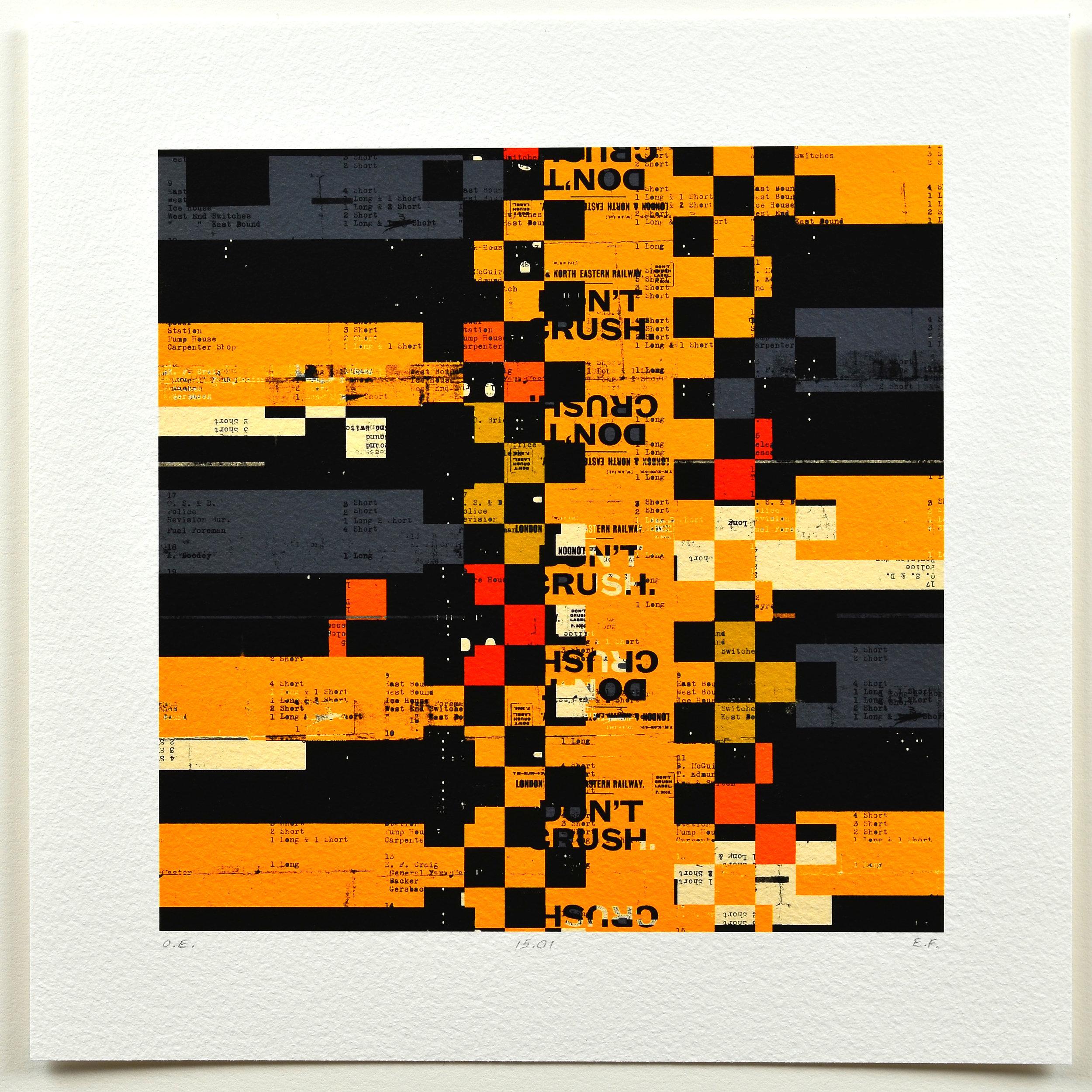 Eric Field    1 Long 2 Short (15:01)   Archival digital pigment print
