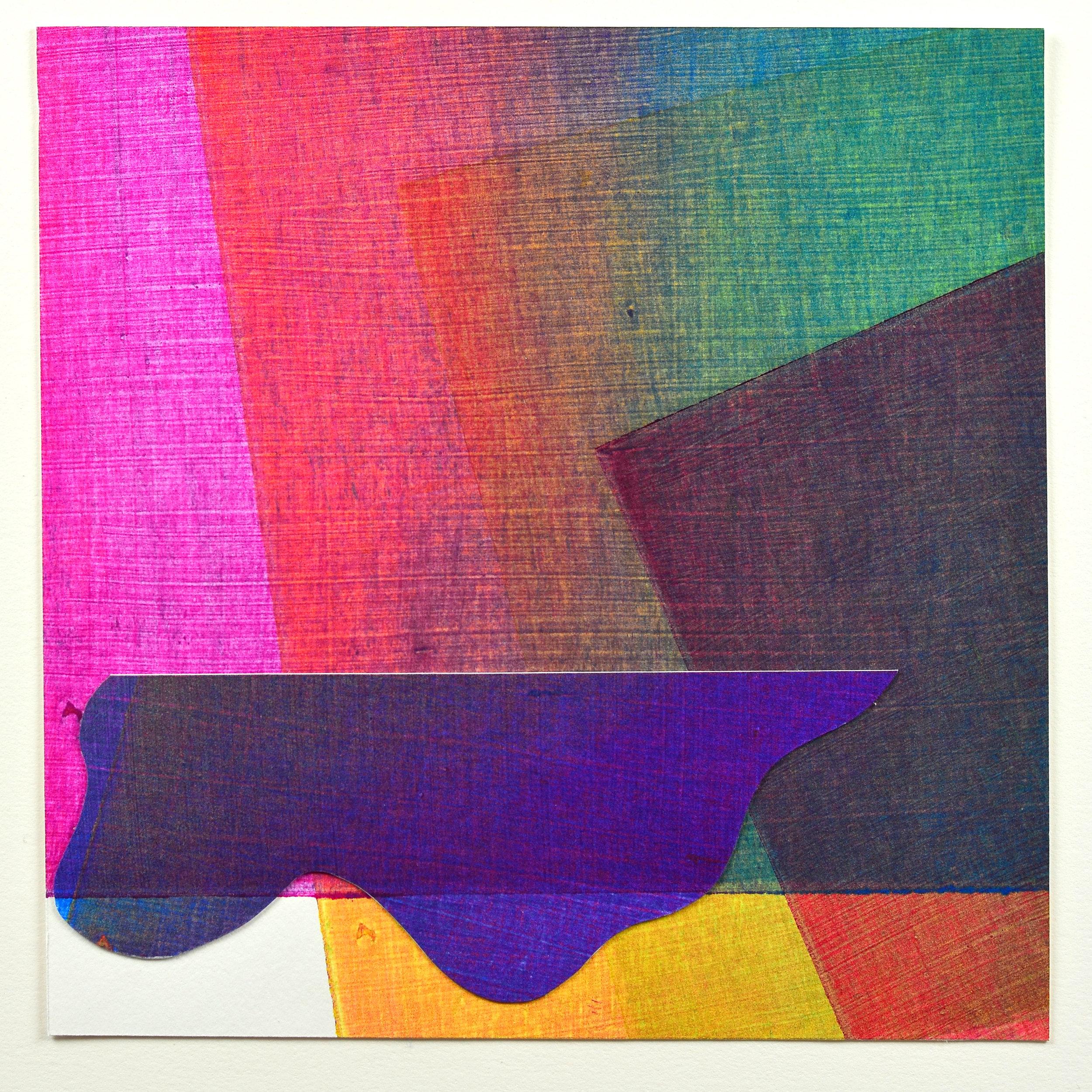 Liz Little    Colour Poem #2,   Collagraph, collage