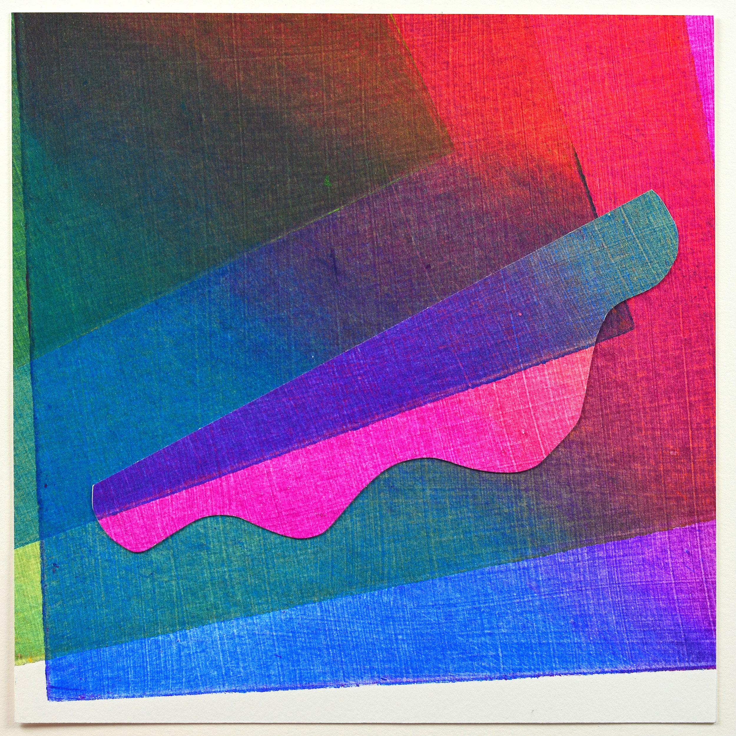 Liz Little    Colour Poem #4   Collagraph, collage