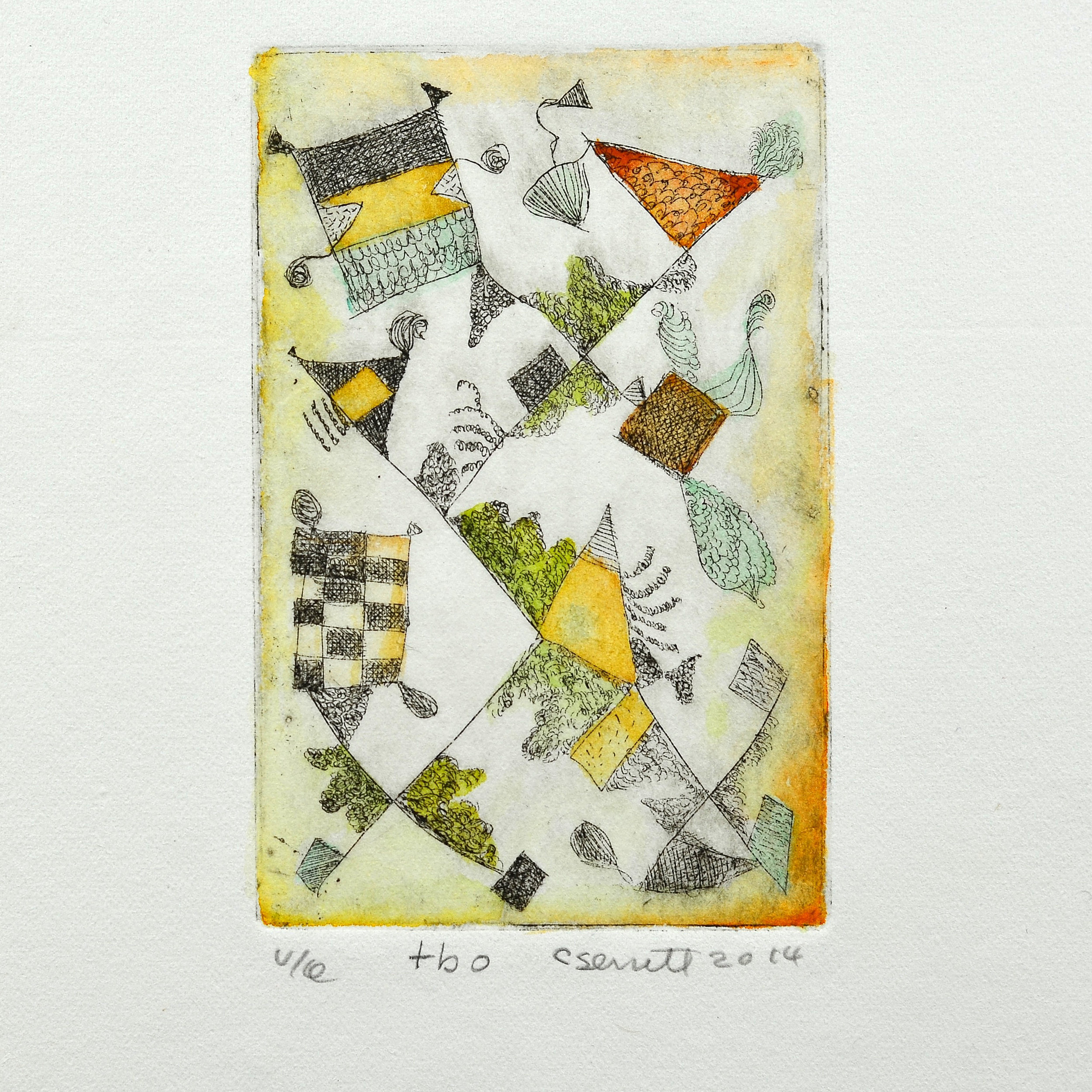 Cathy Senitt    TBO   Intaglio & watercolour