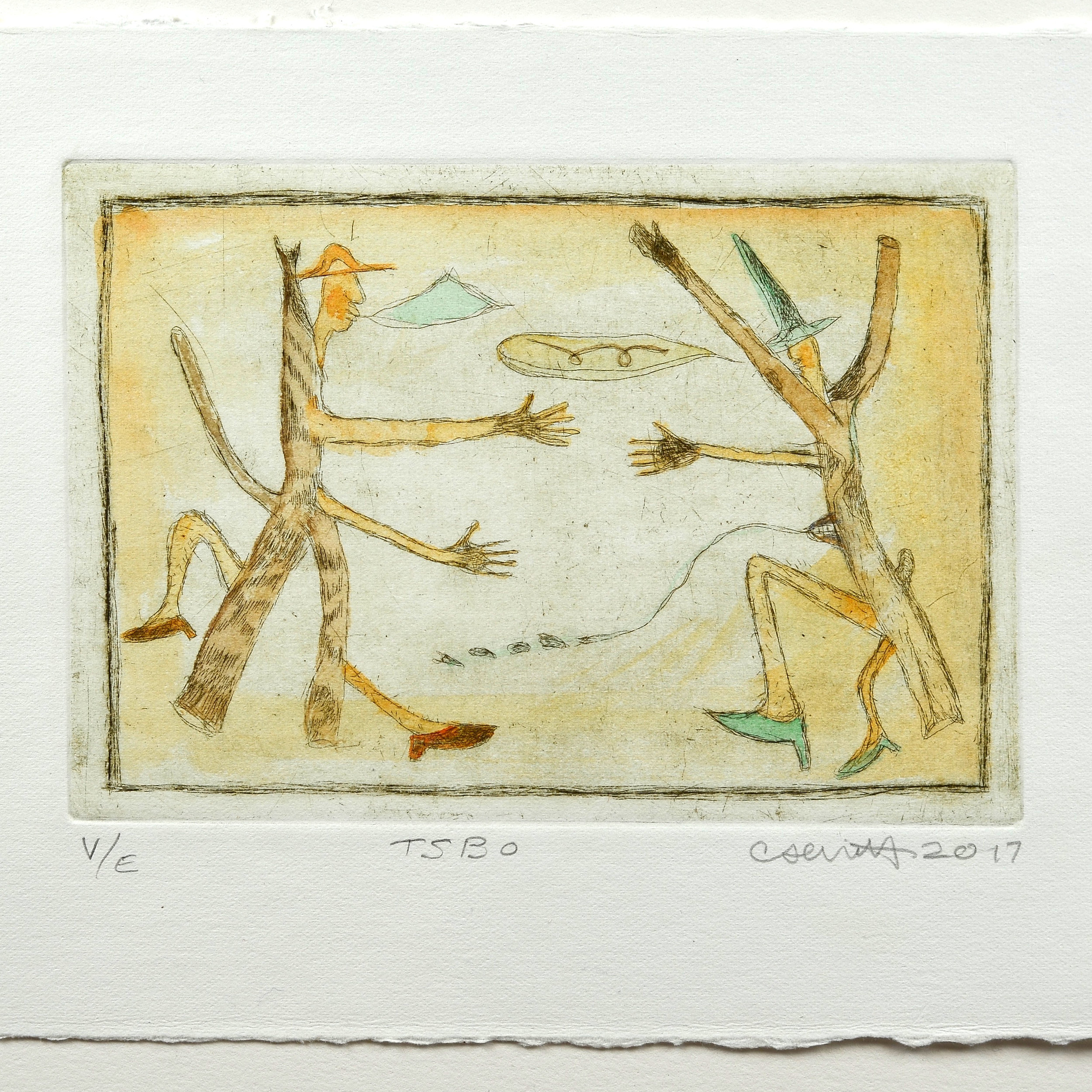 Cathy Senitt    TSBO   Intaglio & watercolour