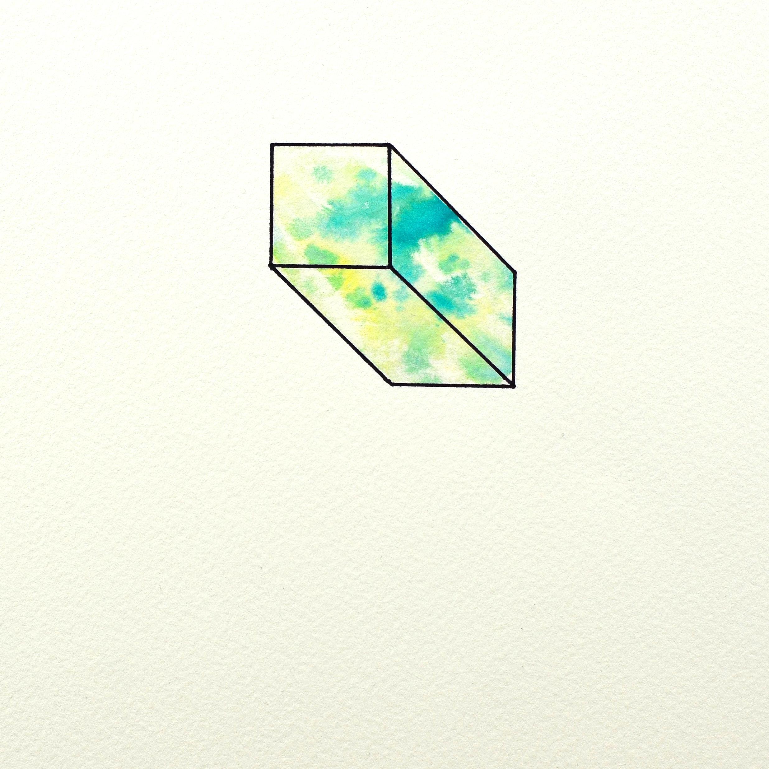 Simone Sparenberg    Mouldy   Screenprint (watercolour), Ballpoint pen