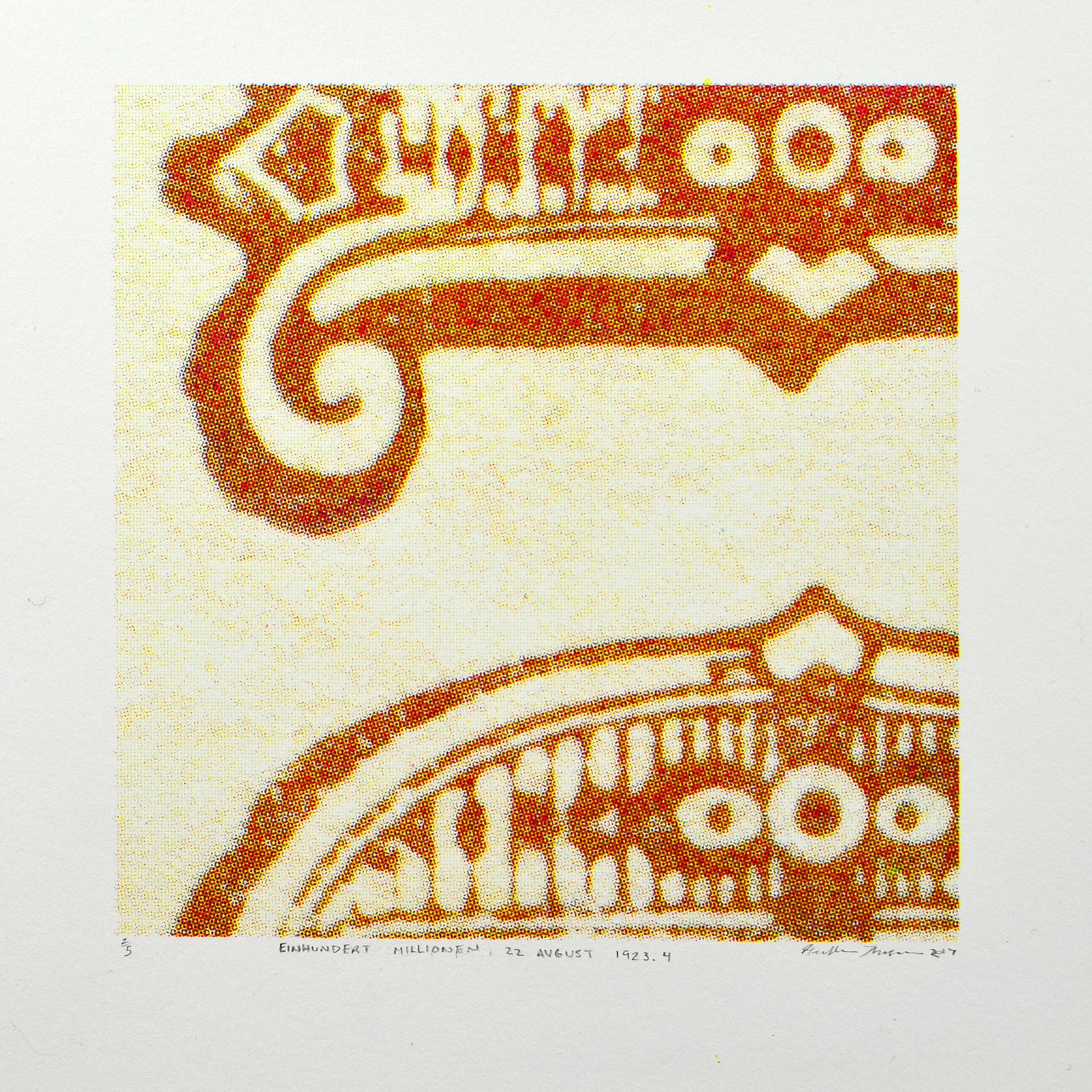 Heather Thomson    Einhunvert Millionen 22 August 1923.4   Plate lithograph