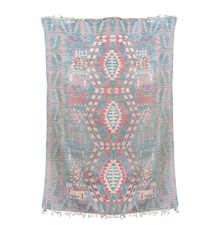 Vintage Turkish Kilim with Tribal Pattern