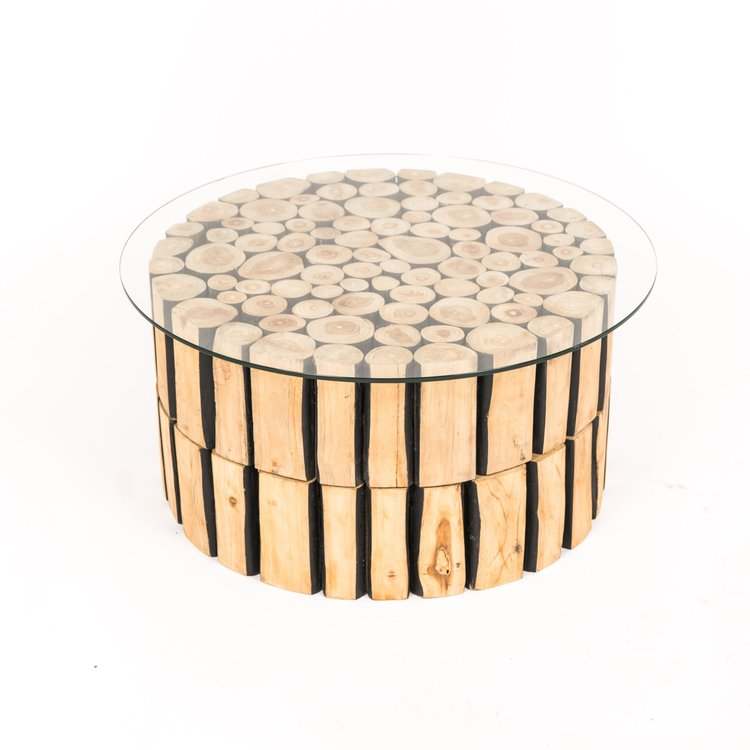 Teak Round Lounge Table