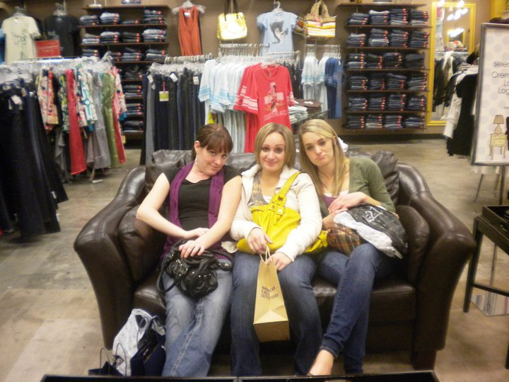 Girl's weekend, shopped until we dropped.
