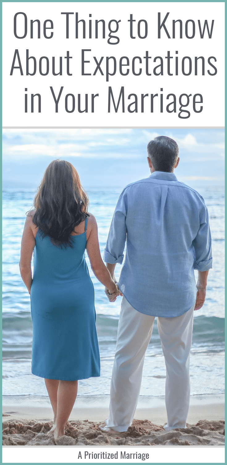 We have different expectations. Once I realized that, I realized that maybe it's not fair to expect things from my husband that are not part of who he is without at least communicating with him about that.