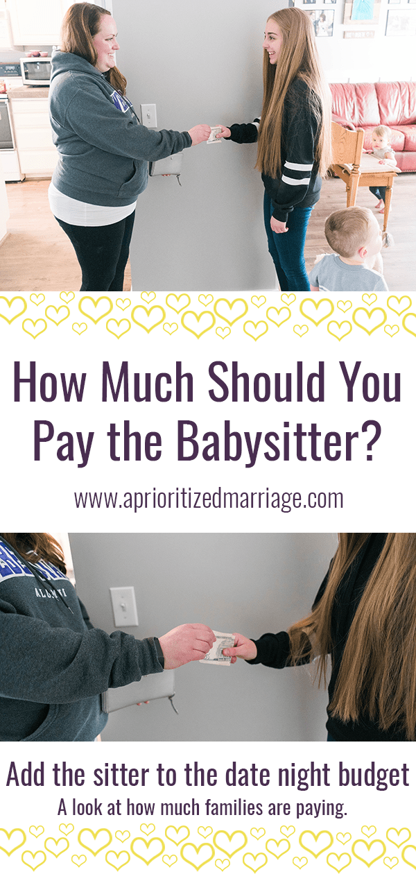 A guide to how much you should pay your babysitter after date night