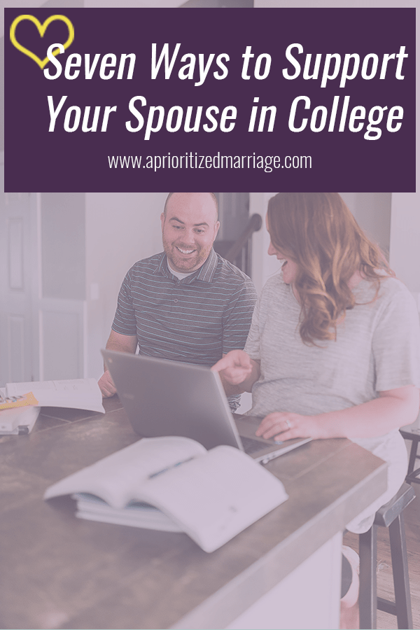Seven ways to support your spouse through school