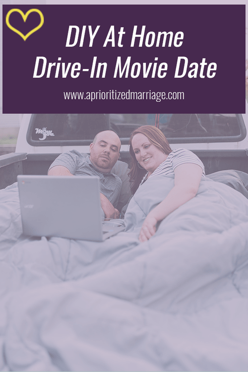 At home drive-in movie date that anyone can do.