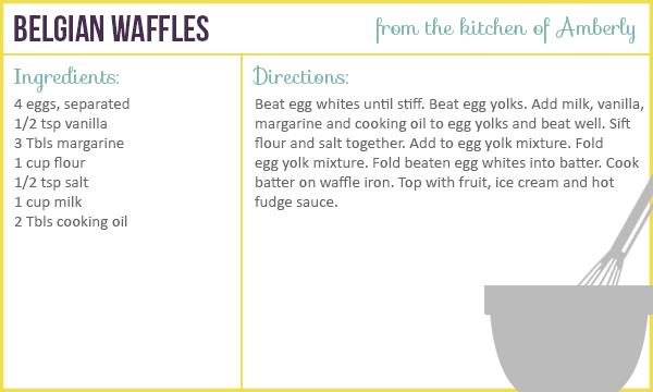 Recipe for Belgian Waffles
