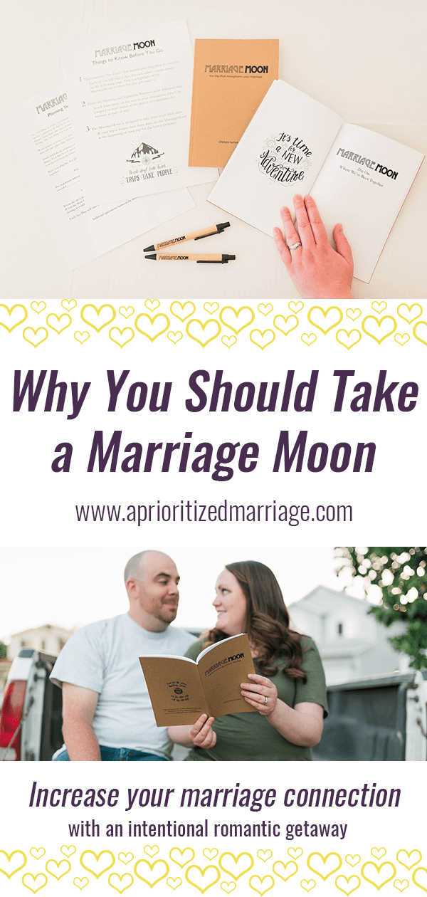 Every married couple needs a regular romantic getaway. Increase your connection with a Marriage Moon.