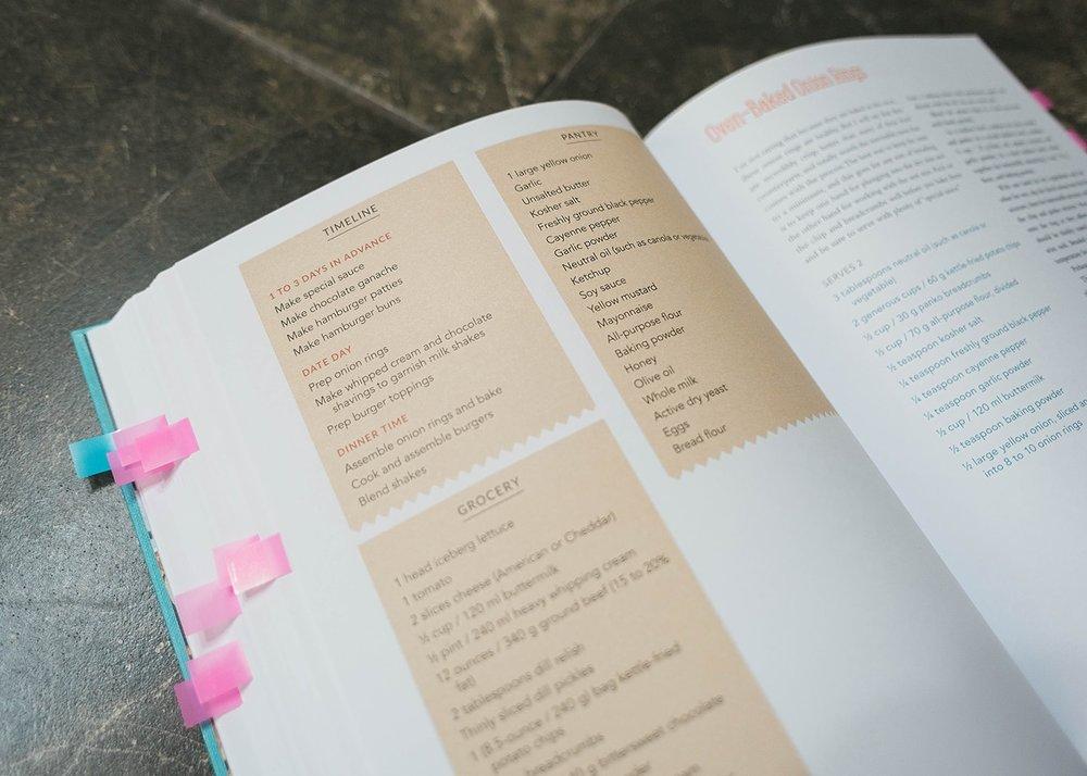 Date Night In Cookbook layout